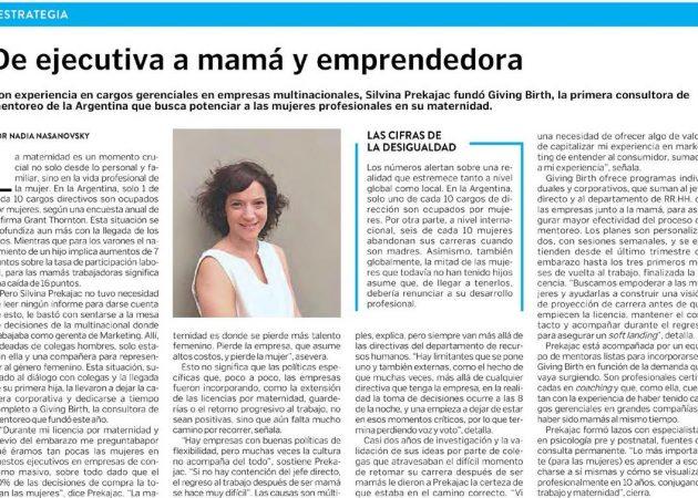 De ejecutiva a mamá y emprendedora