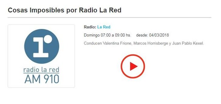 Entrevista Radio La Red. AM 910.
